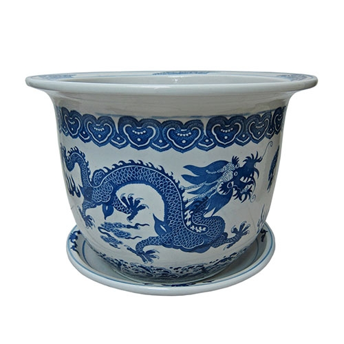 Cachepô Harbour Médio em Cerâmica - 29x21 cm