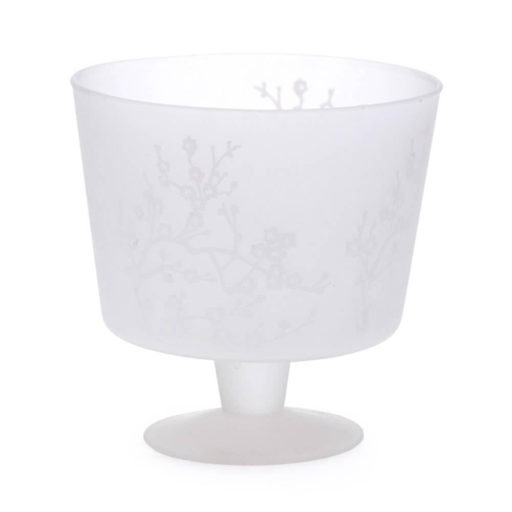 Cachepô Pedestal Transparente em Vidro - 17x15 cm