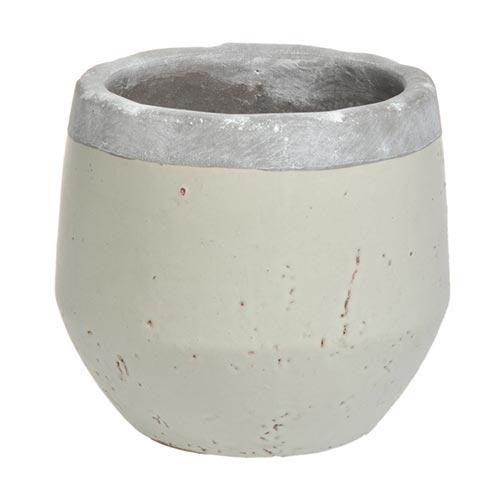 Cachepô Round Anjo Médio em Cerâmica - 19x18 cm