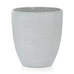Cachepô Scratches Cinza em Cerâmica