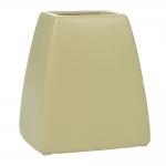 Cachepô Trapézio Bege em Cerâmica - 14x13 cm