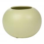 Cachepô Verde Redondo em Cerâmica - 21x15 cm
