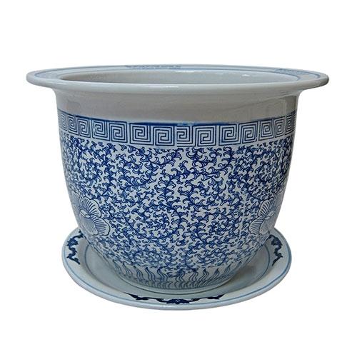 Cachepô Wan Chai Grande em Cerâmica - 39x33 cm