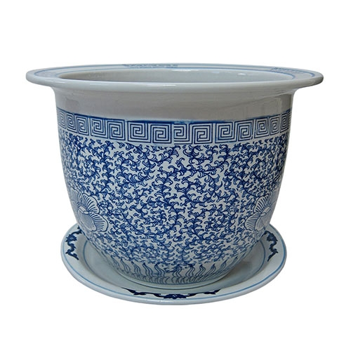 Cachepô Wan Chai Médio em Cerâmica - 29x21 cm