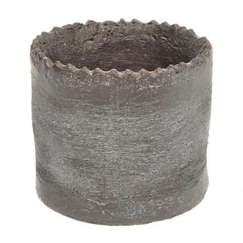 Cachepô Zizag Pequeno em Cerâmica - 12x10 cm