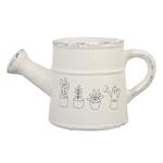 Cachepô/Regador Drawing Branco em Cerâmica