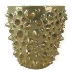 Cachepot Pearl Dourado em Cerâmica - 14,5x14,5 cm