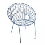 Cadeira Alexia Arabescos Azul em Ferro - 75x68 cm