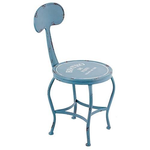 Cadeira Azul Bistrô Paris em Ferro Oldway - 80x38x46cm