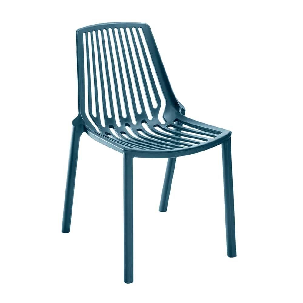 Cadeira Belle Azul Vazada em Filetes - 79x56 cm