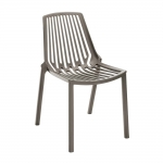 Cadeira Belle Cinza Vazada em Filetes - 79x56 cm