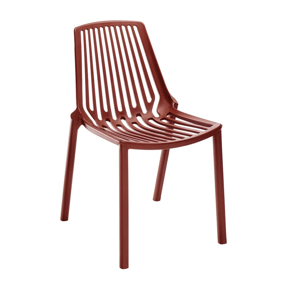 Cadeira Belle Vermelha Vazada em Filetes - 79x56 cm