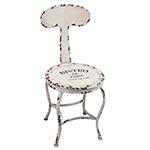 Cadeira Bistro de Paris Branca Oldway - 80x45 cm