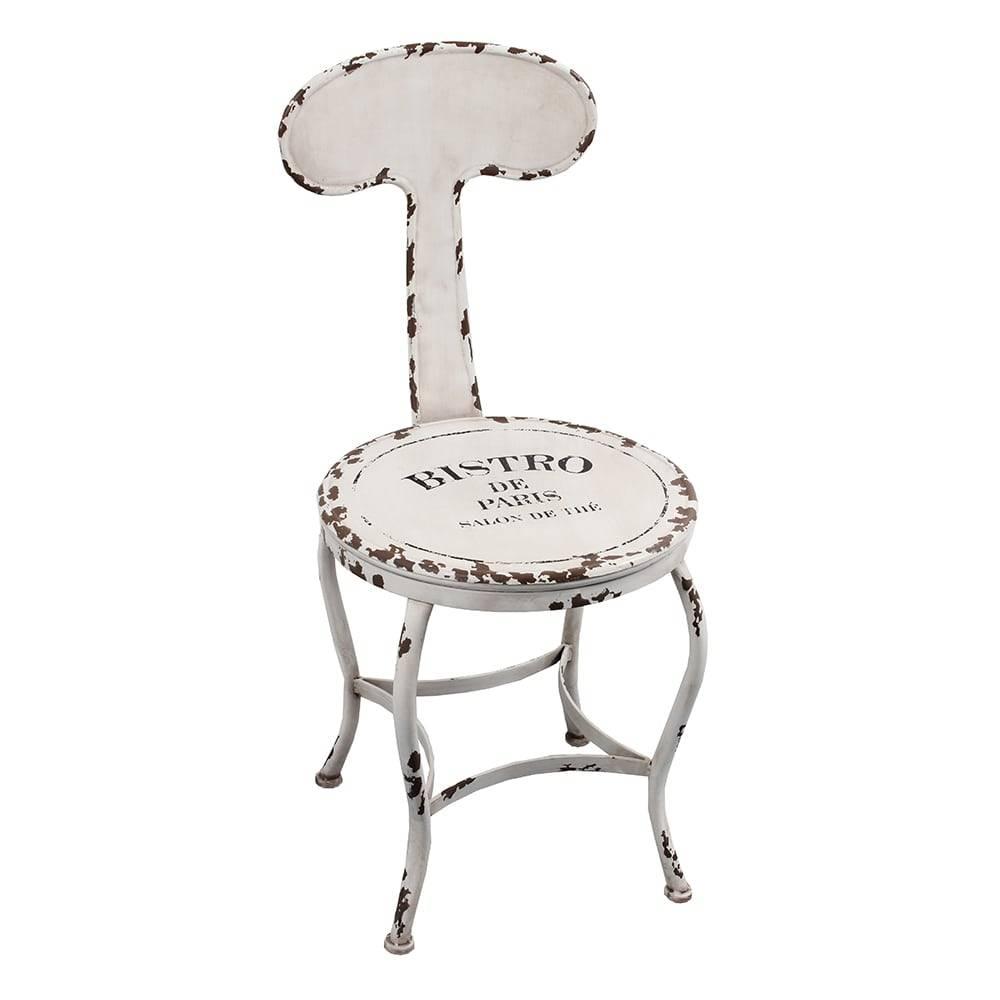 Cadeira Bistro Paris Branco Oldway em Metal - 80x46 cm