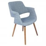 Cadeira com Braços Tecido Jeans Fullway - 85x67 cm