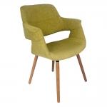 Cadeira Com Braços Tecido Verde Fullway - 85x67 cm