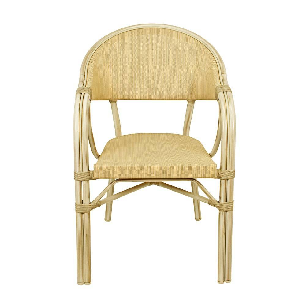 Cadeira Branca com Armação em aluminio Greenway - 83x56x62 cm