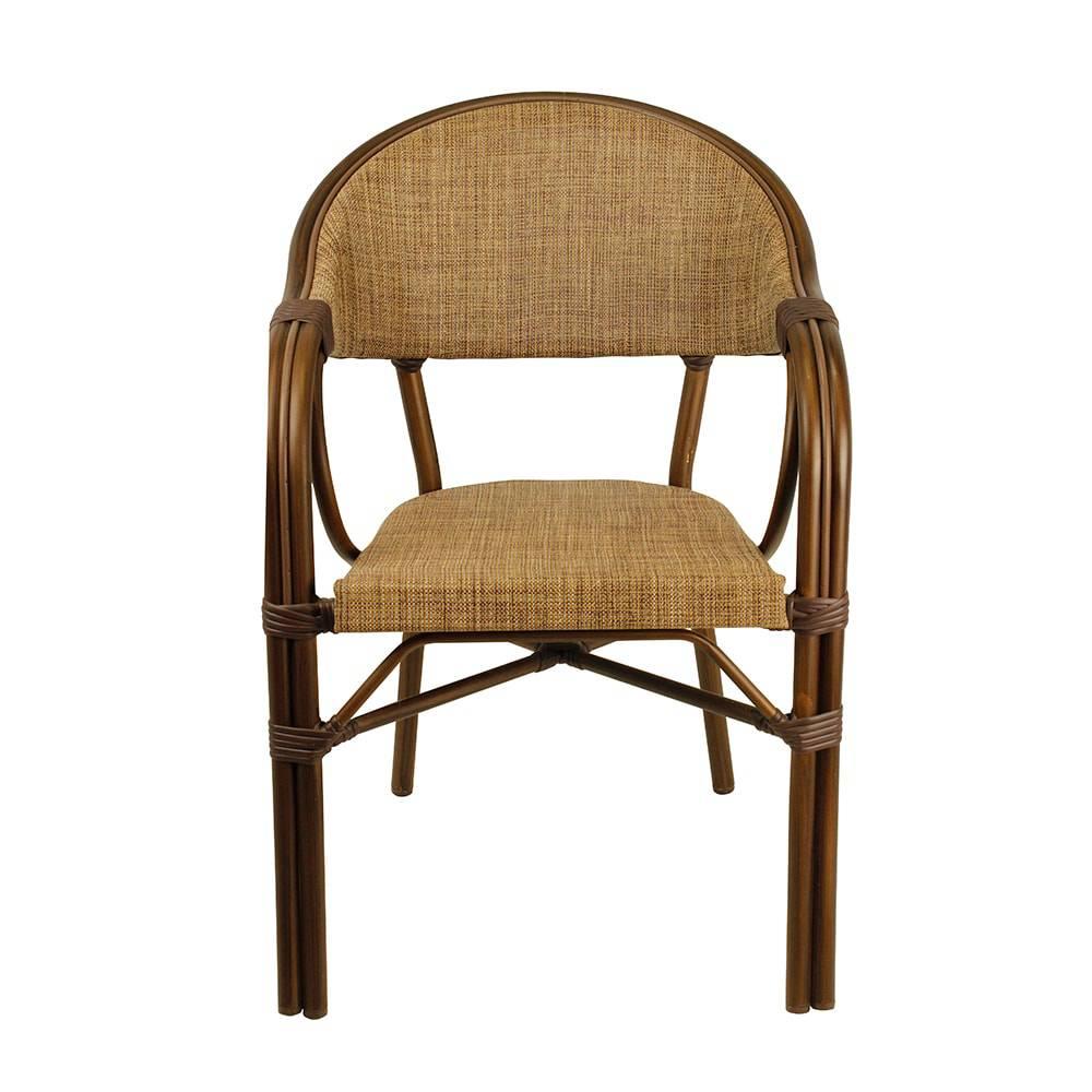 Cadeira Café com Armação em aluminio Greenway - 83x56x62 cm