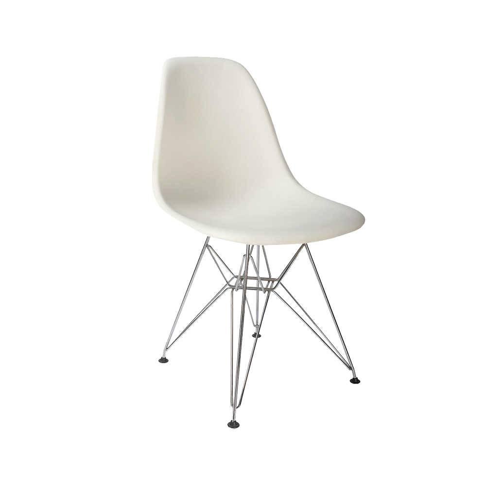 Cadeira Charles Eames Eiffel Branca em Polipropileno - 82x46 cm