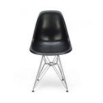 Cadeira Charles Eames Eiffel Preta em Polipropileno