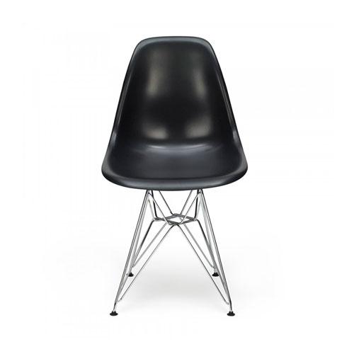Cadeira Charles Eames Eiffel Preta em Polipropileno - 82x46 cm