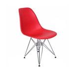 Cadeira Charles Eames Eiffel Vermelha em Polipropileno