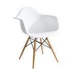 Cadeira Charles Eames Wood Branca em Polipropileno