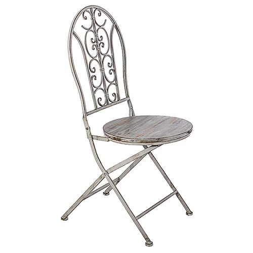 Cadeira Cinza Antique Oldway - 95x40 cm