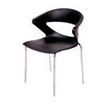 Cadeira Connect Preta em Polipropileno