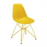 Cadeira Contemporânea Charles Eames Amarela - 83x57 cm