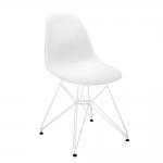Cadeira Contemporânea Charles Eames Branca - 83x57 cm