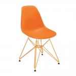 Cadeira Contemporânea Charles Eames Laranja - 83x57 cm
