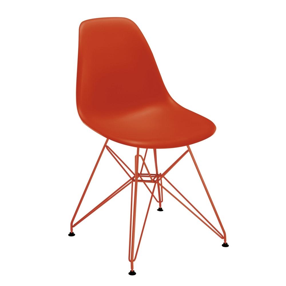Cadeira Contemporânea Charles Eames Vermelha - 83x57 cm