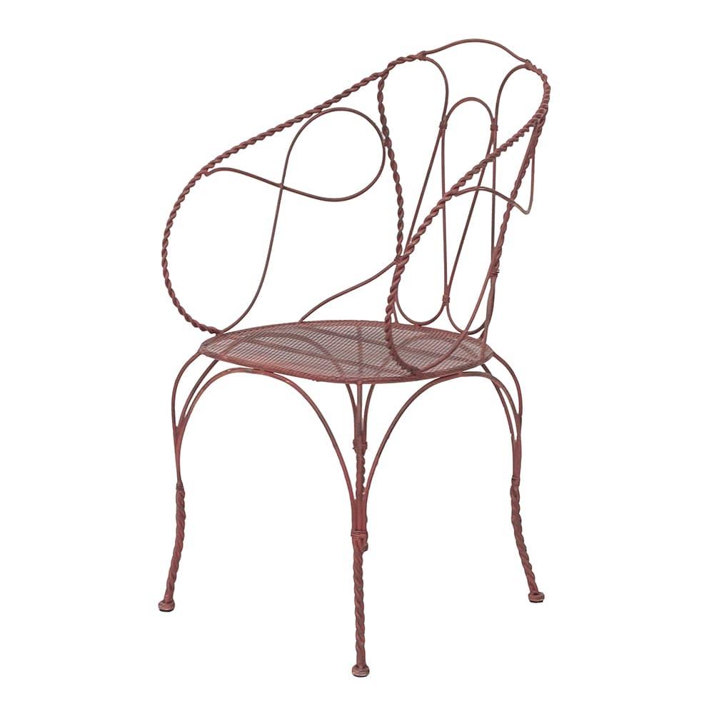Cadeira Divani Vermelha em Ferro - 92x57 cm