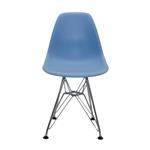 Cadeira DKR Kids Azul em ABS e Base em Aço Cromado