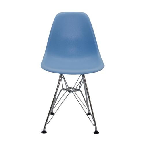 Cadeira DKR Kids Azul em ABS e Base em Aço Cromado - 56x31 cm