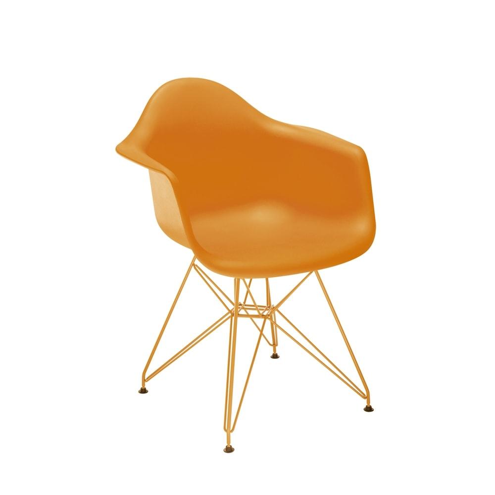 Cadeira Eames Laranja c/ Braço - 83x62,5 cm