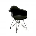 Cadeira Eames Preta c/ Braço - 83x62,5 cm