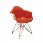Cadeira Eames Vermelha c/ Braço - 83x62,5 cm
