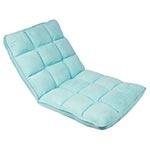 Cadeira Estofada de Chão Suede Azul Fullway - 105x50 cm