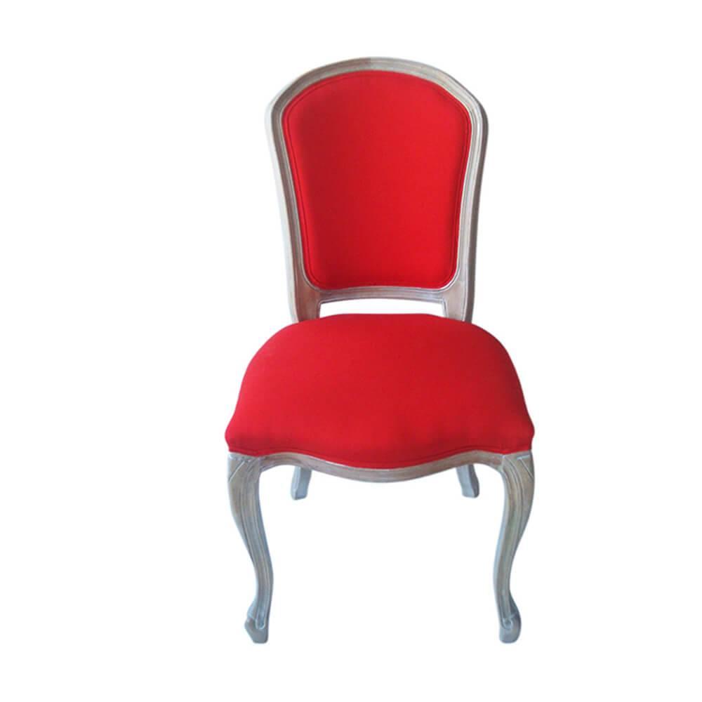 Cadeira Estofada Royal Palace Vermelha em Madeira - Urban - 96x63 cm
