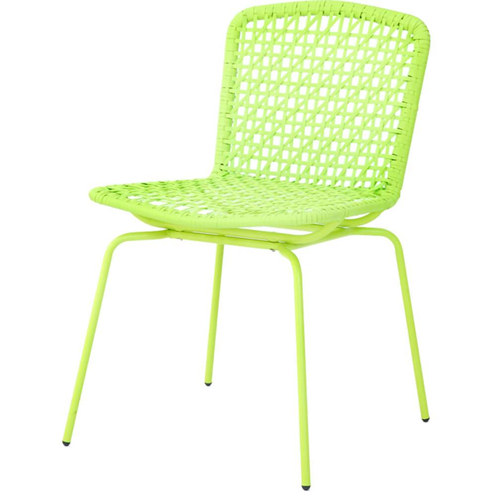 Cadeira Fake Vime Verde em Aço e ABS - Urban - 78x60,5 cm