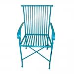 Cadeira Filetes Azul c/ Efeito Desgastado Chic Vazada