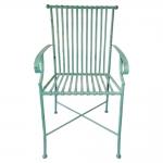 Cadeira Filetes Turquesa com Estrutura Vazada em Ferro