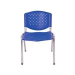 Cadeira Flex Azul em Polipropileno e Base em Aço Cromado