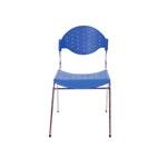 Cadeira Fun Azul em Polipropileno e Base em Aço Cromado