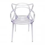 Cadeira Greec Transparente em Policarbonato - 82x53 cm