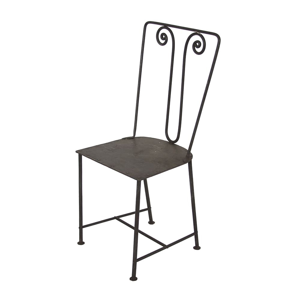 Cadeira Industrial Maybel Marrom em Ferro - 94x44 cm