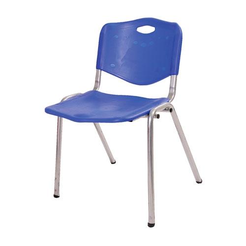 Cadeira Iso Azul em Polipropileno e Base em Aço Pintado - 76x59 cm