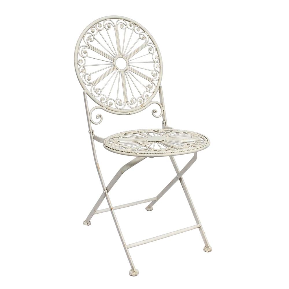 Cadeira Lívia Provençal Branca em Ferro - 91x49 cm